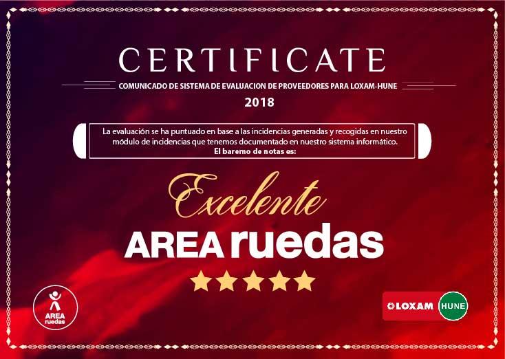 Certificado Evaluación Loxan-Hune